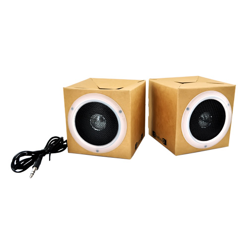Original OrigAudio Premium Fold N' Play Recycled Speakers 3.5mm - Blank Canvas, Design your Own