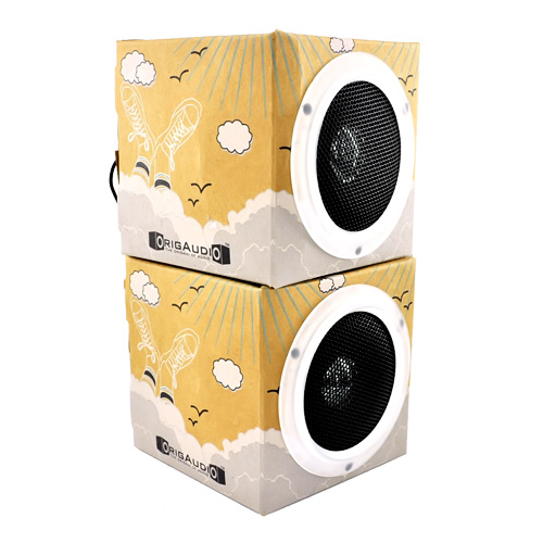 Original OrigAudio Premium Fold N' Play Recycled Speakers 3.5mm - Day Dream Design