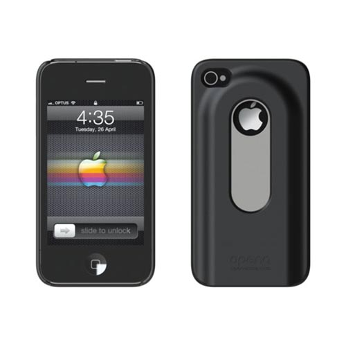 Original Opena AT&T/ Verizon iPhone 4, iPhone 4 Hard Case w/ Slide Out Bottle Opener, OCIP4B - Black