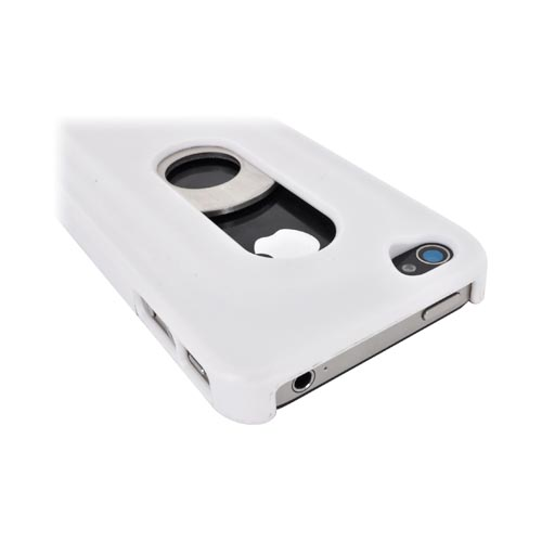 Original Opena AT&T/ Verizon Apple iPhone 4, iPhone 4S Hard Case w/ Slide Out Bottle Opener, OCIP4W - White
