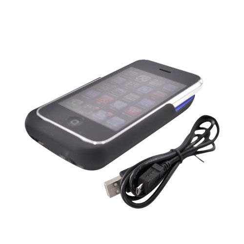 Power Juice Pack iPhone 3G 3Gs Rechargeable Battery Case for iPhone 3Gs & 3G -1900mAh, Black - Buy 2 or more & SAVE!