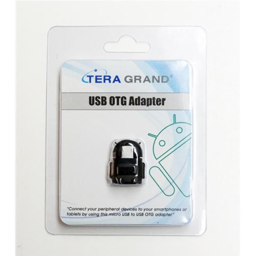 TERA GRAND Micro USB OTG to A Female Adapter [Black]