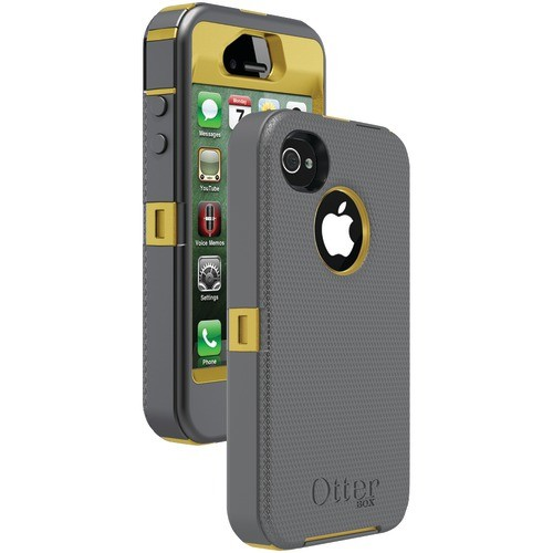 OTTERBOX APL2-I4SUN-E5-E4OTR_A IPHONE 4S DEFENDER SERIES CASE (SUN YELLOW/GUNMETAL GREY SLIP COVER)