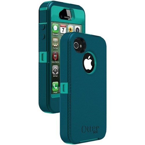 OTTERBOX APL2-I4SUN-E8-E4OTR_A IPHONE 4S DEFENDER SERIES CASE (LIGHT TEAL PC/DEEP TEAL SLIP COVER)