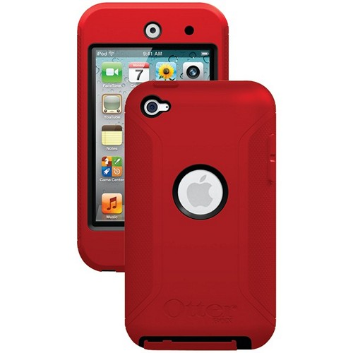 OTTERBOX APL2-T4GXX-A9-E4OTR IPOD TOUCH 4G DEFENDER CASE (BLACK/RED)