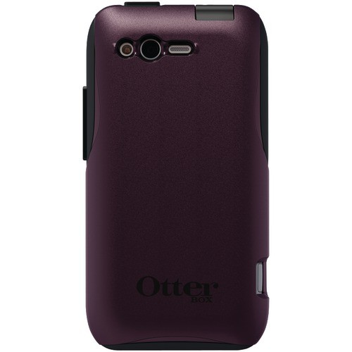 OTTERBOX HTC4-RHYME-G7-E4OTR HTC RHYME COMMUTER SERIES CASE (EGGPLANT PLASTIC WITH BLACK SILICONE)