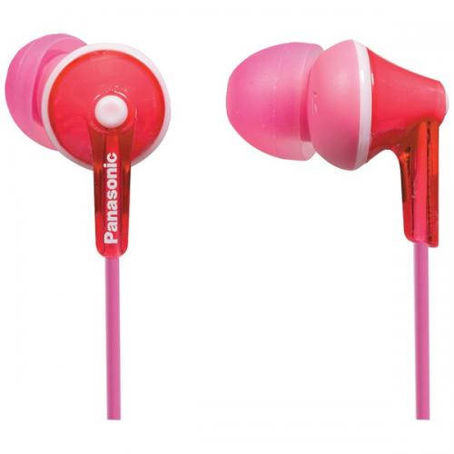 PANASONIC RP-TCM125-P TCM125 Earbuds with Remote & Microphone (Pink)