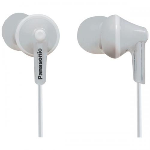 PANASONIC RP-TCM125-W TCM125 Earbuds with Remote & Microphone (White)