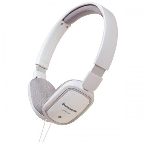 PANASONIC RP-HXC40-W SLIMZ Lightweight On-Ear Headphones with iPad(R)/iPhone(R)/iPod(R) Controller (White)