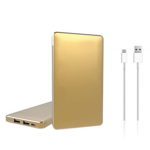 REDShield® Gold 8000mAh Universal USB Dual Port Smartphone & Tablet Powerbank, Portable External Battery [Great for long travels, backup charging port, and everyday use]