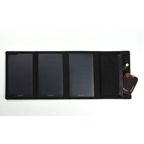 [Apollon] Outdoor Solar Charger [5W/ 3A] P15 Portable Foldable 3 Panel Solar Charger W/ Dual USB Ports[Black]