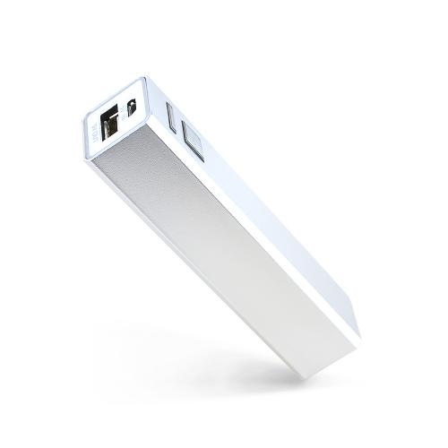 Lipstick Sized Portable Power Bank Battery Pack [2200 mAh] Charger w/ USB Port [Silver] Perfect for Traveling!