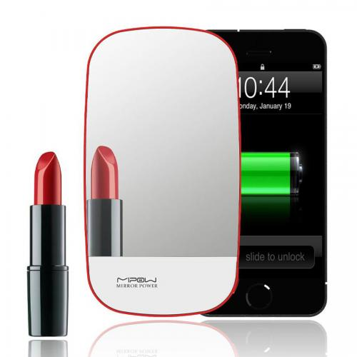 Mirror Power Universal 3A Power Bank for Portable Devices w/ Magic Backlight [Red]
