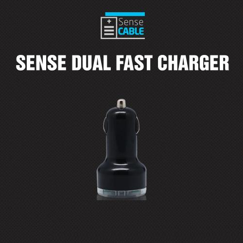 Universal Dual USB Port Car Charger Adapter (3100 mAh) - Black