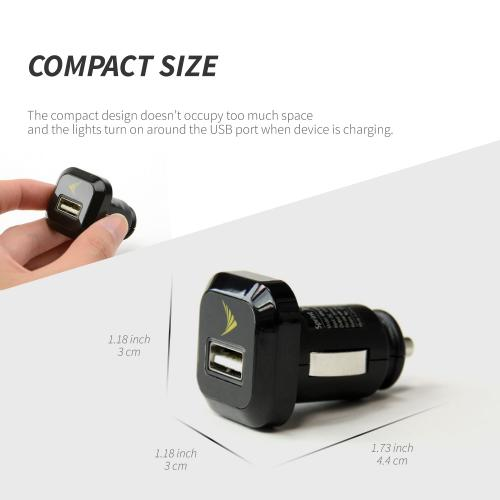 Universal USB Car Charger Adapter (850 mAh) by Sprint® [Versatile, Compatible with both male Android and Apple chargers USB chargers]