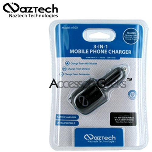 Naztech n300 3-in-1 Cell Phone Charger (mini USB)