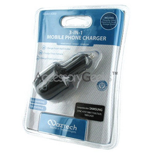 Naztech n300 3-in-1 Cell Phone Charger for Samsung (T809 Type)