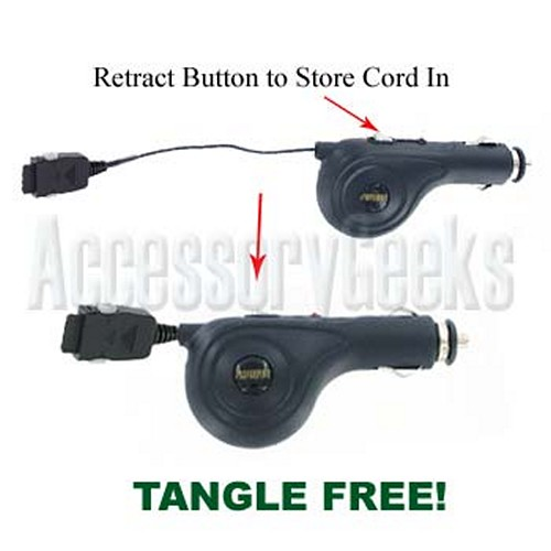 Retractable Car Charger for Sanyo (8100 Type)