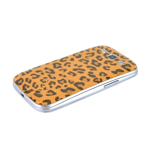 Brown/ Black Leopard Samsung Galaxy S3 Leather Textured Battery Door Case