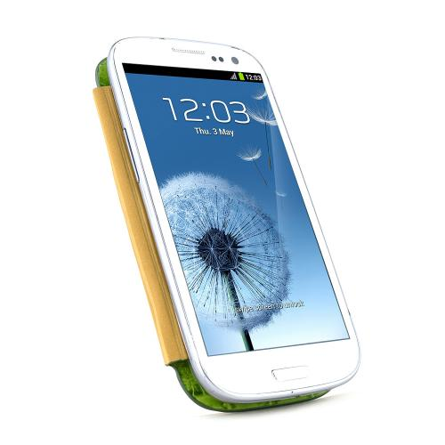Light Green Alligator Samsung Galaxy S3 Leather Textured Diary Flip Battery Door Case