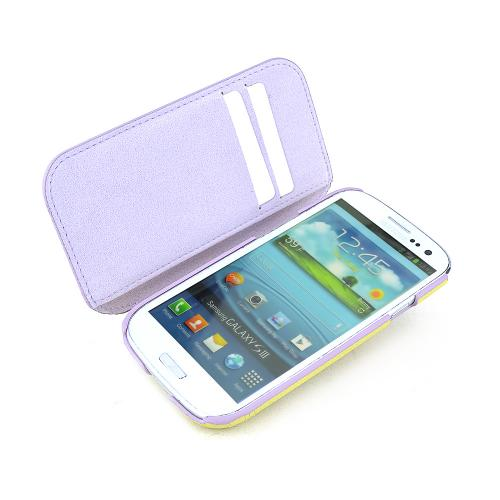 MobC Light Moss Green Samsung Galaxy S3 C.Pocket Hard Cover Diary Case w/ Suede Interior & ID Slots