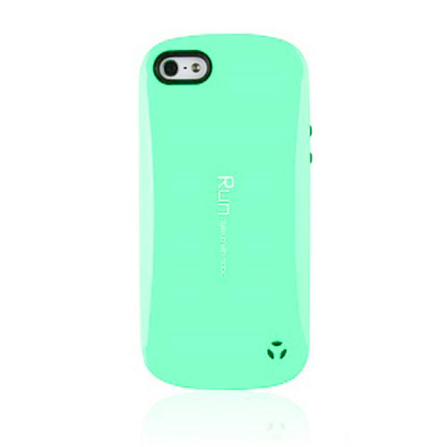[REDShield] Mint/ Black Apple iPhone 5/ iPhone 5s Hard Case Cover on Skinny Shockproof Silicone Hybrid Case; Perfect fit as Best Coolest Design cases