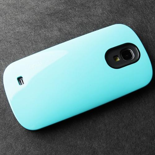 [REDShield] Sky Blue/ Black Samsung Galaxy S4 Hard Case Cover on Skinny Shockproof Silicone Hybrid Case; Perfect fit as Best Coolest Design cases