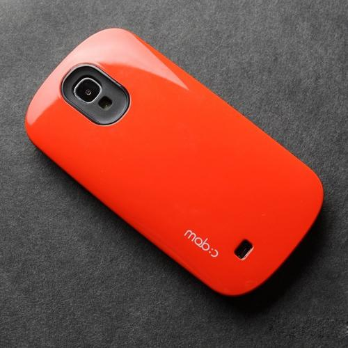 [REDShield] Orange/Black Samsung Galaxy S4 Hard Case Cover on Skinny Shockproof Silicone Hybrid Case; Perfect fit as Best Coolest Design cases