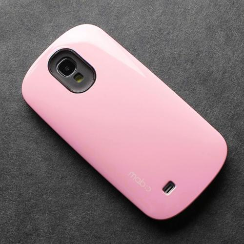 [REDShield] Baby Pink/ Black Samsung Galaxy S4 Hard Case Cover on Skinny Shockproof Silicone Hybrid Case; Perfect fit as Best Coolest Design cases