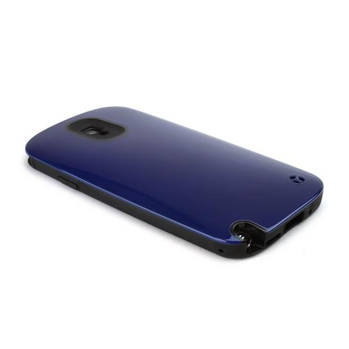 [REDShield] Navy Blue/ Black Samsung Galaxy Note 3 Hard Case Cover on Skinny Shockproof Silicone Hybrid Case; Perfect fit as Best Coolest Design cases