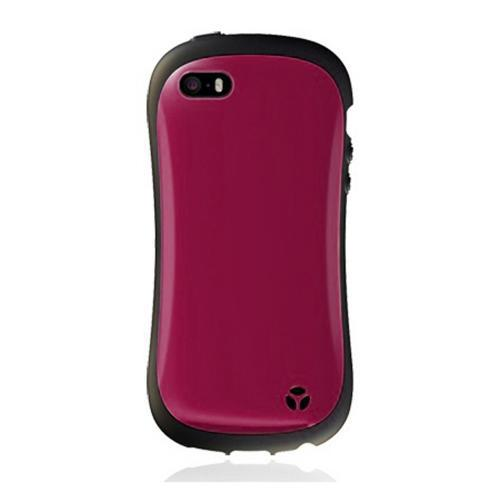 [REDShield] Dark Magenta/Black Apple iPhone 5C Hard Case Cover on Shockproof Silicone Fashion Hybrid Case; Perfect fit as Best Coolest Design cases