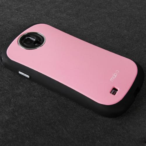 [REDShield] Baby Pink/ Black Samsung Galaxy S4 Hard Case Cover on Shockproof Silicone Fashion Hybrid Case; Perfect fit as Best Coolest Design cases