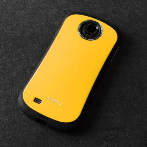 [REDShield] Yellow/ Black Samsung Galaxy S4 Hard Case Cover on Shockproof Silicone Fashion Hybrid Case; Perfect fit as Best Coolest Design cases