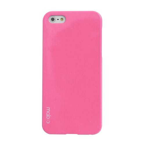 MobC Baby Pink Apple iPhone 5/5S Hard Case Cover; Perfect fit as Best Coolest Design Plastic Case - Includes Free Screen Protector!