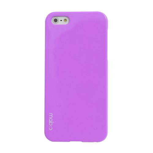 MobC Lavender Apple iPhone 5/5S Hard Case Cover; Perfect fit as Best Coolest Design Plastic Case - Includes Free Screen Protector!