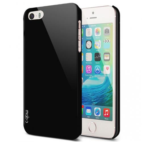 Apple iPhone SE / 5 / 5S  Case, MobC [Black]  Hard Case Cover; Perfect fit as Best Coolest Design Plastic Case w/ Free Screen Protector!