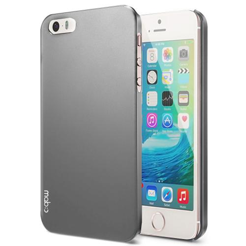 Apple iPhone SE / 5 / 5S  Case, MobC [Dark Gray]  Hard Case Cover; Perfect fit as Best Coolest Design Plastic Case w/ Free Screen Protector!