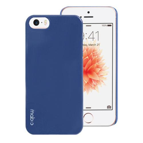 [Apple iPhone SE/5/5S] Case, MobC [Dark Navy]  Hard Case Cover; Perfect fit as Best Coolest Design Plastic Case w/ Free Screen Protector!