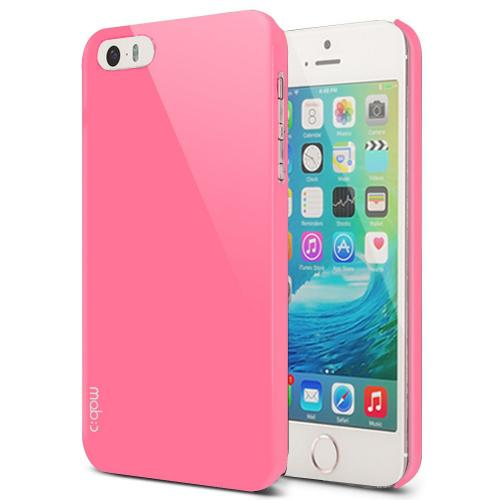 Apple iPhone SE / 5 / 5S  Case, MobC [Baby Pink]  Hard Case Cover; Perfect fit as Best Coolest Design Plastic Case w/ Free Screen Protector!