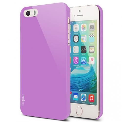 Apple iPhone SE / 5 / 5S  Case, MobC [Lavender]  Hard Case Cover; Perfect fit as Best Coolest Design Plastic Case w/ Free Screen Protector!