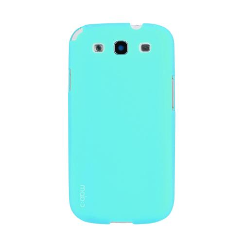 MobC Mint Samsung Galaxy S3 Matte Hard Case Cover; Perfect fit as Best Coolest Design Plastic Case