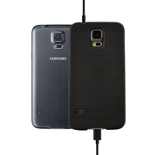 Black Samsung Galaxy S5 Case w/ Holster Attachment, Kickstand & Swivel Belt Clip: Textured Matte Rubberized Plastic