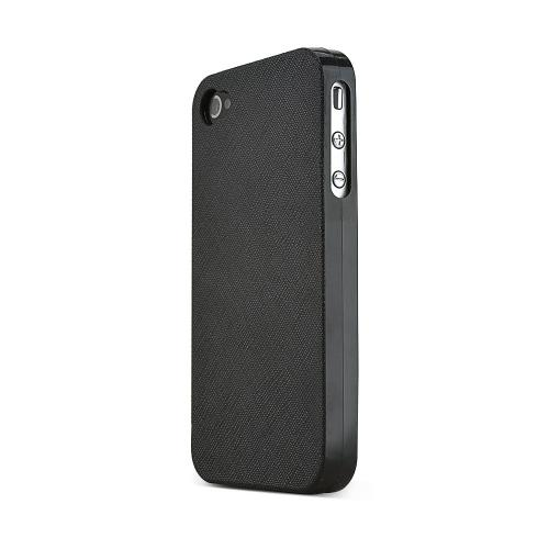 REDShield Black Apple iPhone 4/4S Case Cover; [Anti-Slip] Soft Silicone TPU Gel Material w/ Coolest Fashion Faux leather Textured Back - XXIP4