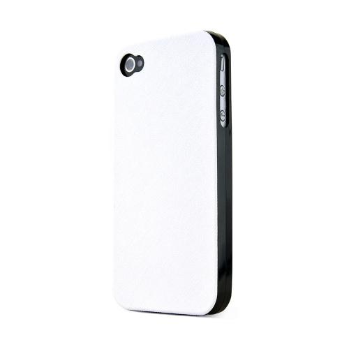REDShield White Apple iPhone 4/4SCase Cover; [Anti-Slip] Soft Silicone TPU Gel Material w/ Coolest Fashion Faux leather Textured Back - XXIP4