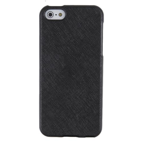 REDShield® Apple iPhone 5/5S Case | Soft Silicone TPU with Faux Leather Back [Black]