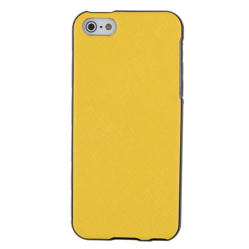 [REDShield] Yellow Apple iPhone 5C Case Cover; [Anti-Slip] Soft Silicone TPU Gel Material w/Coolest Fashion  faux leather Textured Back