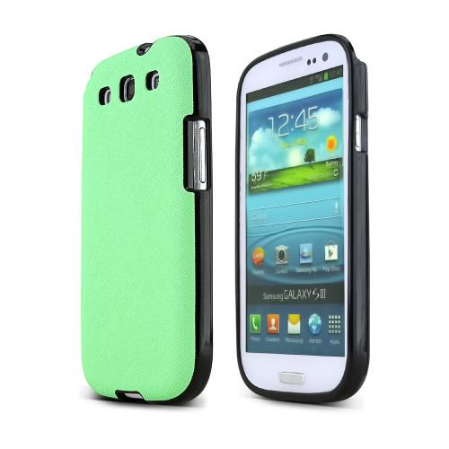 REDShield Mint Samsung Galaxy S3 Case Cover; [Anti-Slip] Soft Silicone TPU Gel Material w/Coolest Fashion faux leather Textured Back