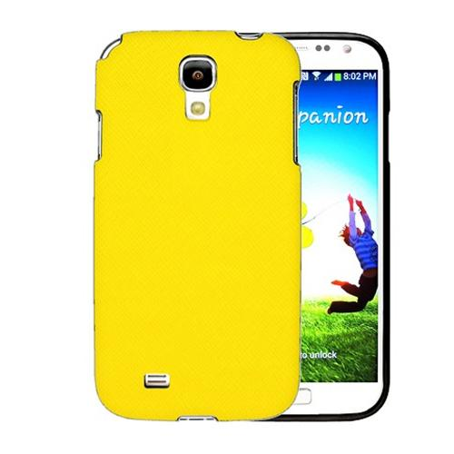 [REDShield] Yellow Samsung Galaxy S4 Case Cover; [Anti-Slip] Soft Silicone TPU Gel Material w/Coolest Fashion  faux leather Textured Back