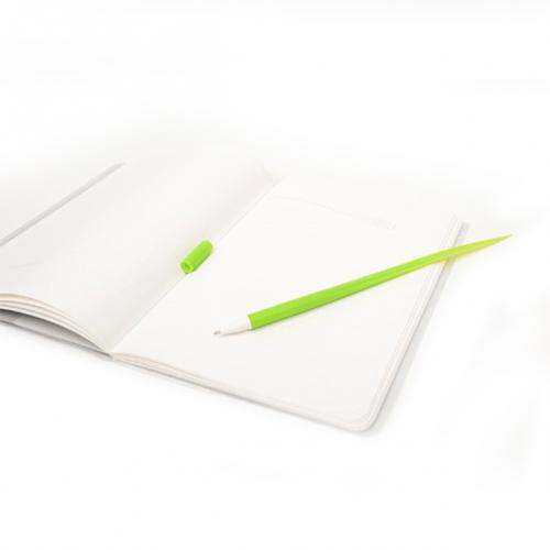 Geektastic Yellow Green Grass Silicone Leaf Ballpoint Pen w/ Black Ink - Perfect for School!