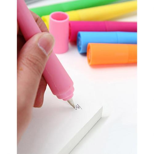 Geektastic Hot Pink Cute Bendable Character Ballpoint Pen w/ Black Ink - Perfect for School!